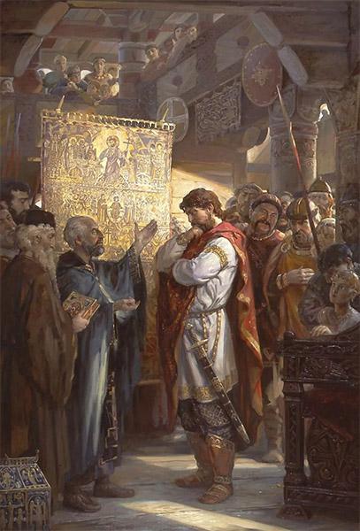 Равноапостольный князь Владимир выбирает веру