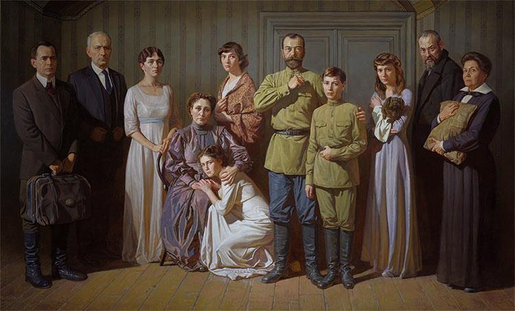 Семья Романовых в подвале Ипатьевского дома