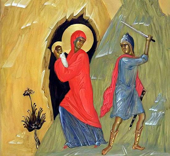 Святая Елисавета с младенцем Иоанном