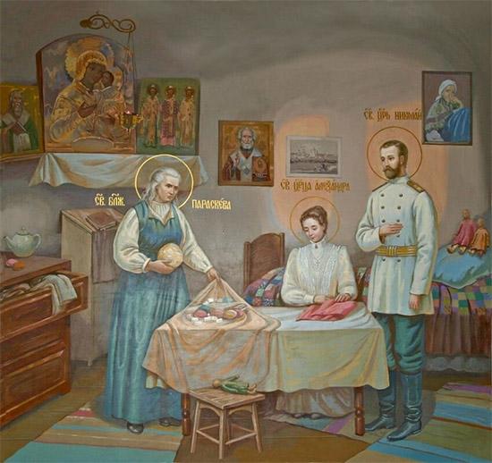 Святая блаженная Параскева и царская чета