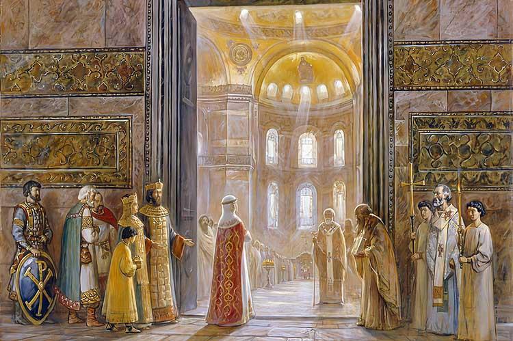 Святая княгиня Ольга в Константинополе