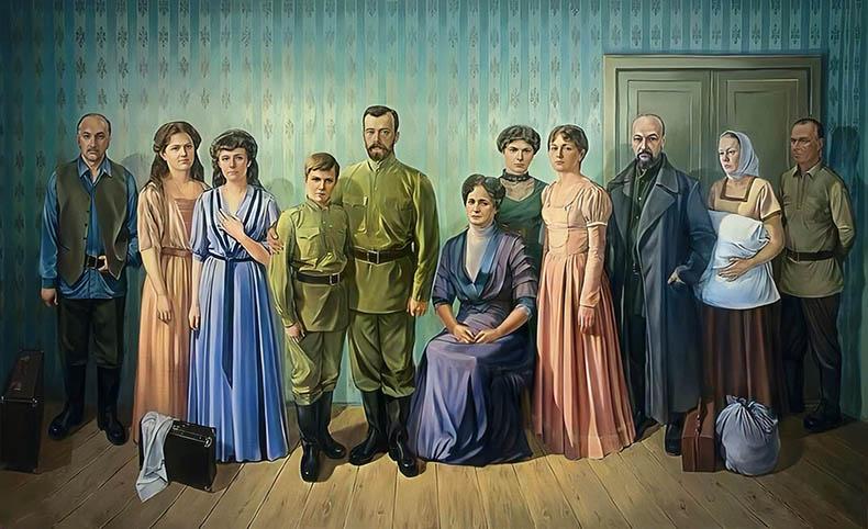 Царственные страстотерпцы в подвале Ипатьевского дома
