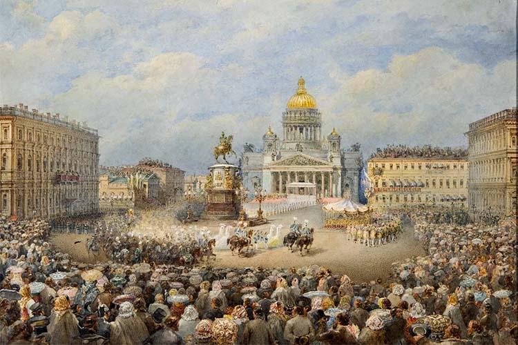 Торжественное открытие памятника императору Николаю I