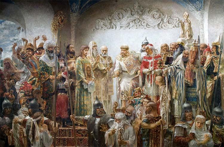 Великий Князь Владимир выбирает веру