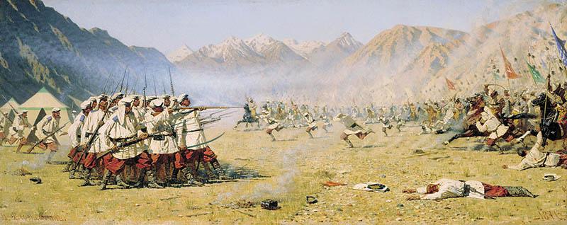 Бой русского отряда