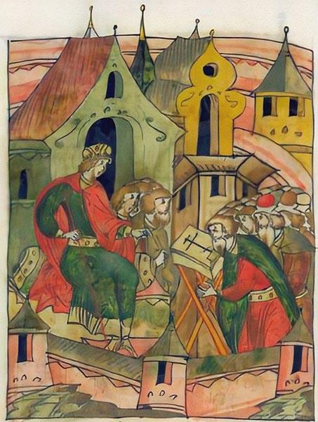 Бояре присягают Даниилу по смерти его отца