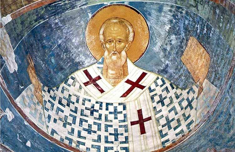 Фреска работы Дионисия в Рождественском соборе Ферапонтова монастыря