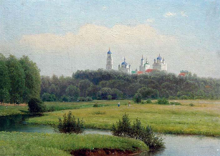 Гавриил Кондратенко. Летний пейзаж. Вид на монастырь