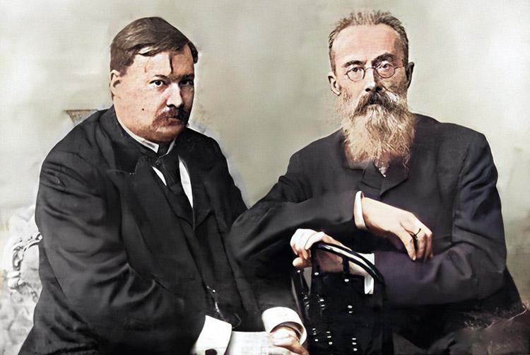 Глазунов со своим учителем Римским-Корсаковым