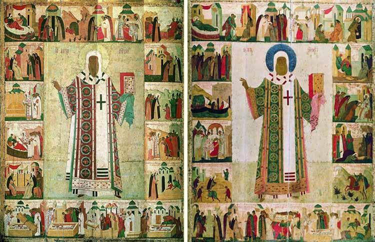 Икона митрополита Петра и митрополита Алексия