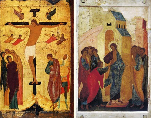 Иконы «Распятие» и «Уверение Фомы»