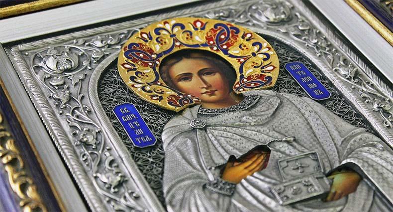 Образ Великомученика Пантелеимона в храме