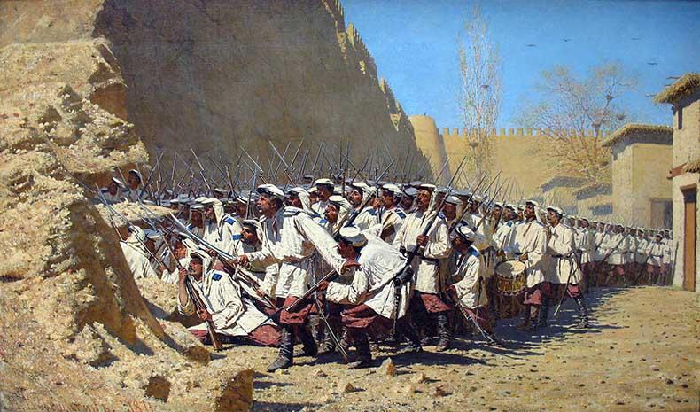 Русские войска штурмуют город