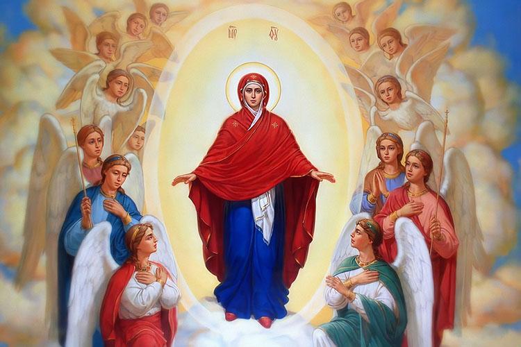 Царица Небесная, окружённая Ангелами