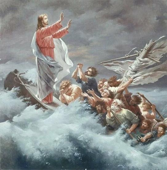 Укрощение бури Христом