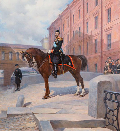 Великий князь Константин Константинович верхом на лошади