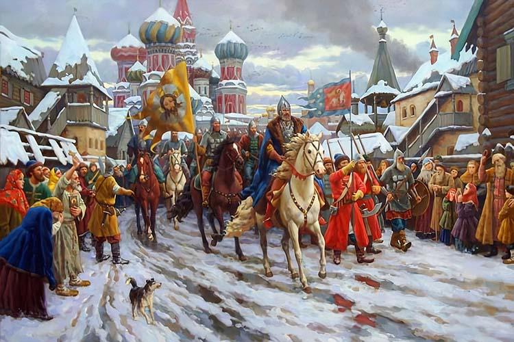 Вход ополчения в Москву