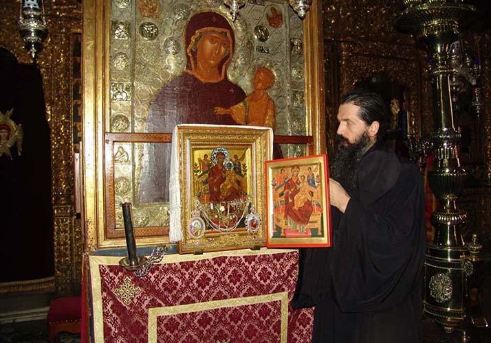 Всецарица, Ватопедский монастырь