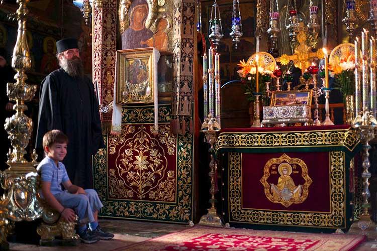 «Всецарица» в Афонском монастыре Ватопед