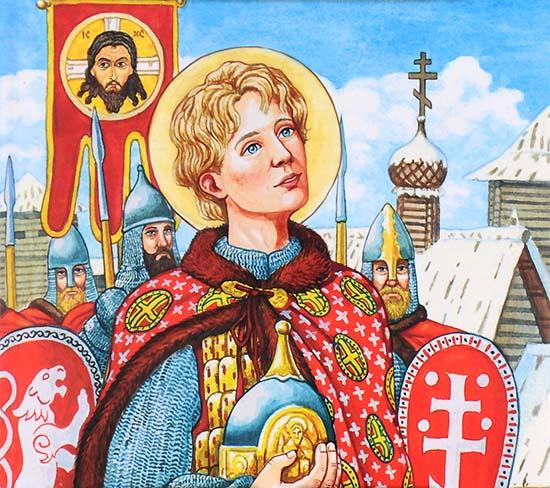 Благоверный князь Александр Невский в юности