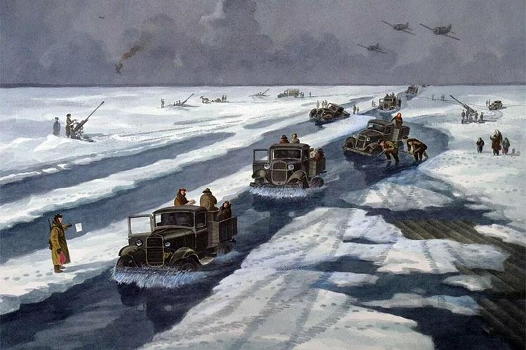 Дорога жизни на Ладожском озере