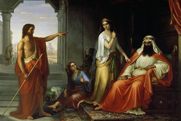 Иоанн Предтеча обличает царя Ирода