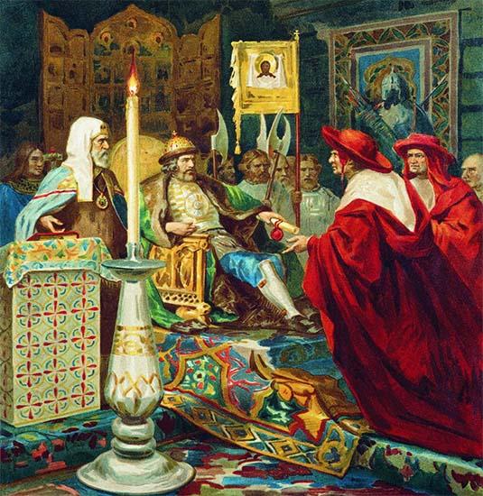 Князь Александр Невский принимает папских легатов