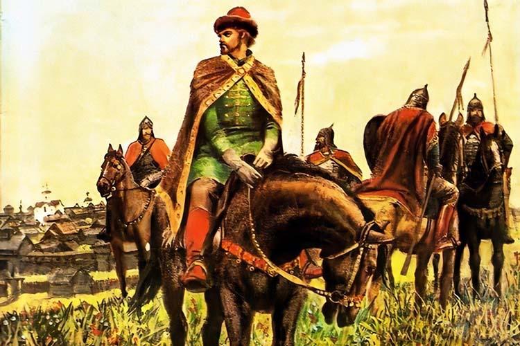 Князь Симеон Гордый верхом на коне
