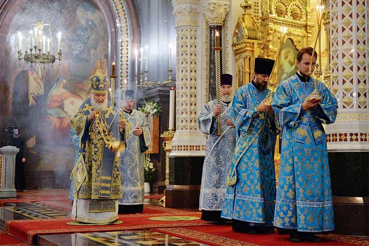 Патриаршее служение в канун праздника Рождества Пресвятой Богородицы