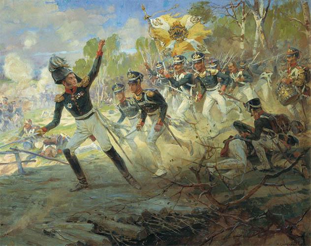 Подвиг солдат Раевского под Салтановкой