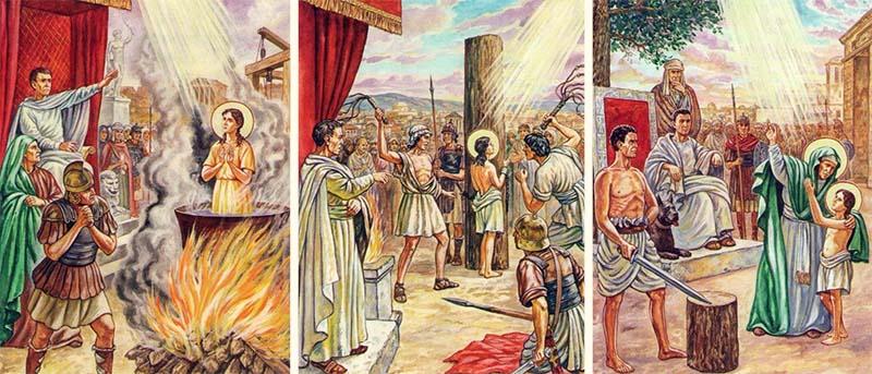 Страдания святых мучениц Веры, Надежды, Любови и матери их Софии