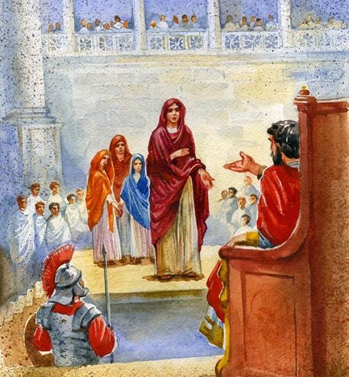 Вера, Надежда, Любовь и мать их София у императора