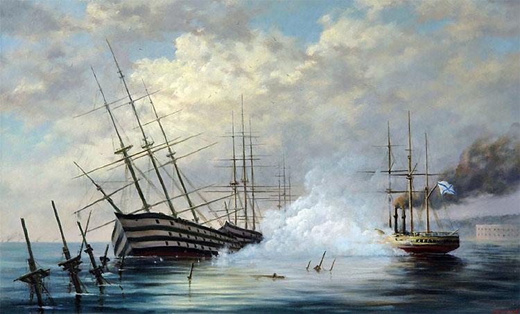 Затопление русской эскадры в Крымскую войну