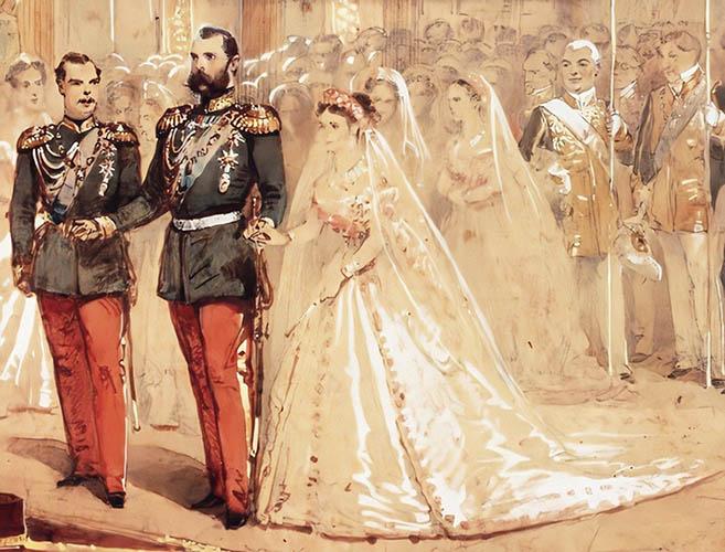 Александр II, цесаревич Александр Александрович и принцесса Мария Дагмар