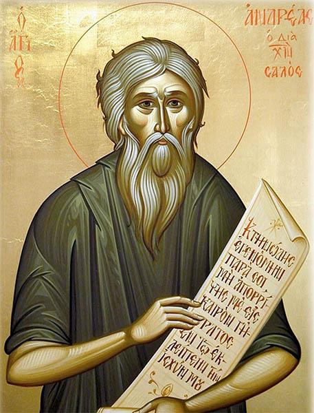 Блаженный Андрей Константинопольский, Христа ради юродивый
