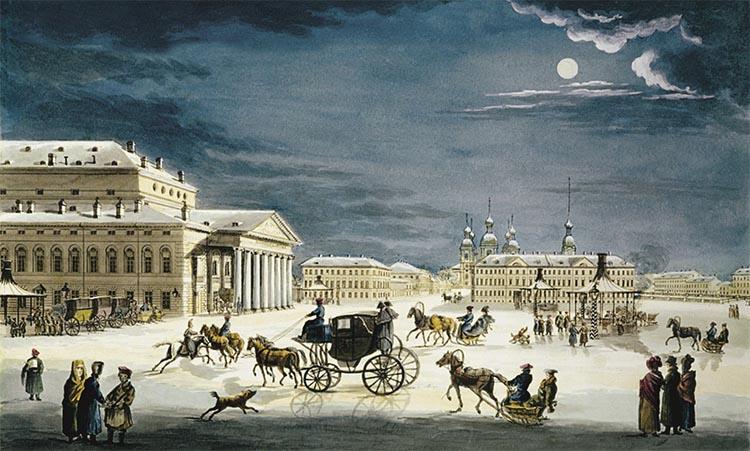 Большой Каменный театр на Карусельной площади