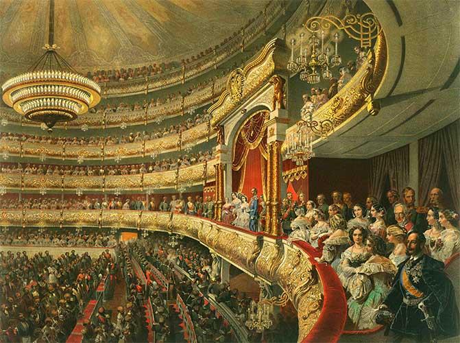 Императорская ложа в театре