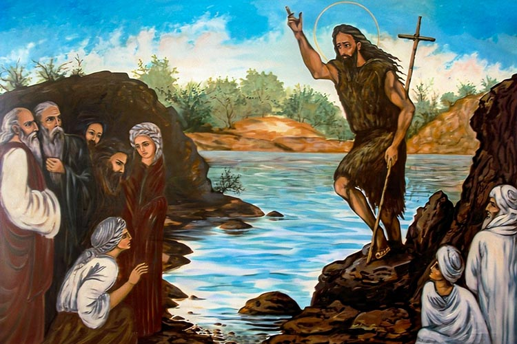 Иоанн Предтеча проповедует
