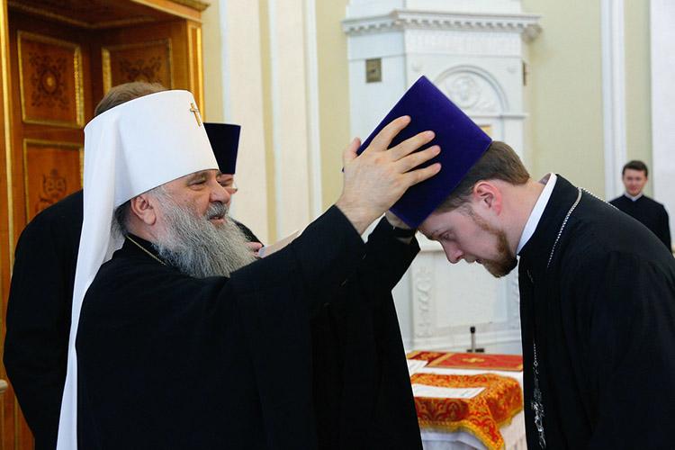 Награждение священника камилавкой
