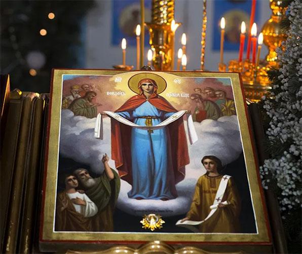 Образ Покрова Пресвятой Богородицы в храме