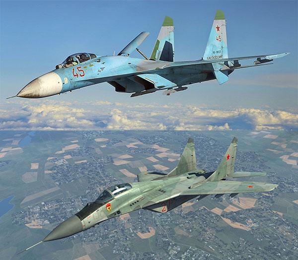 Су-27 и МиГ-29