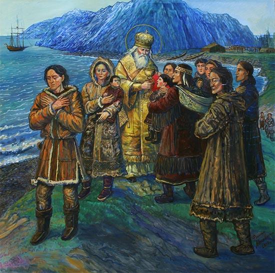 Святитель Иннокентий на Алеутских островах
