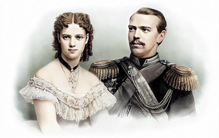 Цесаревич Александр Александрович и принцесса Мария Дагмар