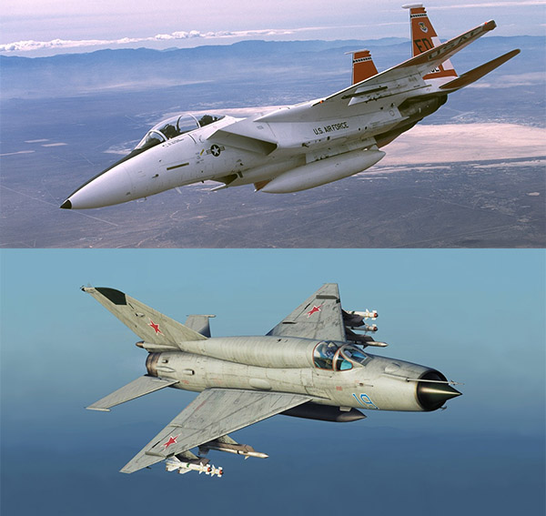 F-15 и МиГ-21